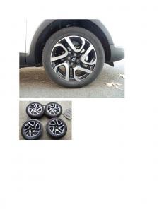 Renault Captur 17 inch aluminum 4 bolt wheels, with 205/55/R