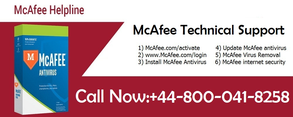 McAfee Help Number UK 0800-041-8258 McAfee Support Number UK